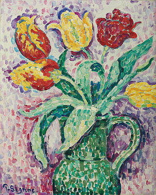 The Green Vase Print by Paul Signac