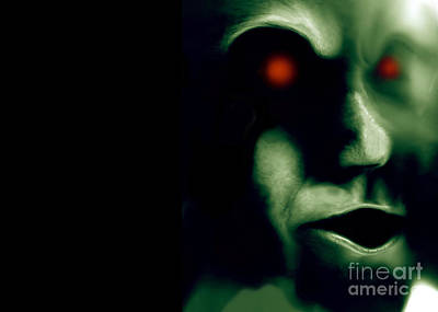 Xfiles Digital Art - The Green Visitor by Bruce Stanfield