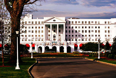 The Greenbrier Resort Print by Chastity Hoff