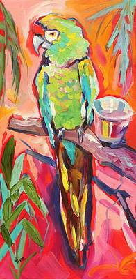 Parrot Art Painting - The Greeter by Eve  Wheeler