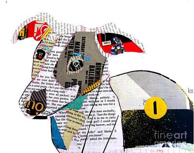 Greyhound Art Painting - The Greyhound by Bri B