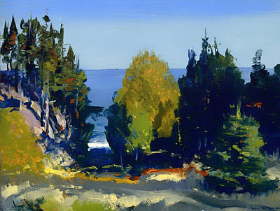 Maine Painting - The Grove At Monhegan by Mountain Dreams