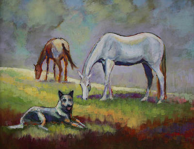 The Guardian Of The Horses Print by Carol Jo Smidt