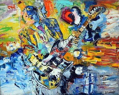 The Guitarist Original by John Barney