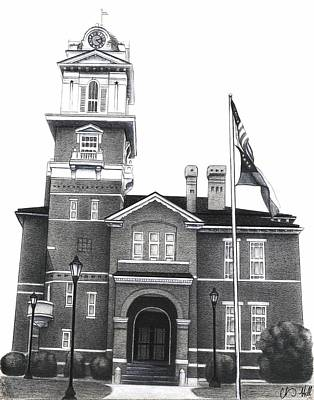 The Gwinnett County Ga Courthouse  Print by Chris  Hill