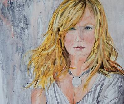 Windblown Painting - The Hair Is The Thing by Paula Day