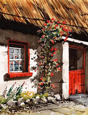 Ducks Painting - The Half Door by Val Byrne