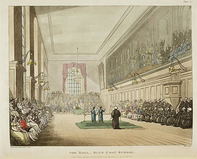 Microcosm Photograph - The Hall by British Library
