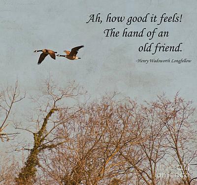 Friendship Photograph - The Hand Of Friendship by Kerri Farley