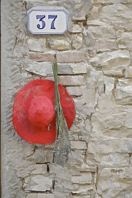 The Hanging Red Hat Print by David Letts