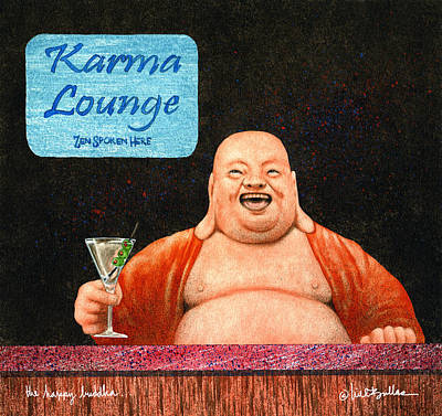 The Happy Buddha... Original by Will Bullas
