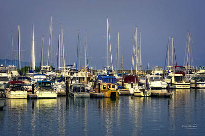 After The Storm Photograph - The Harbor After The Storm by Mary Machare