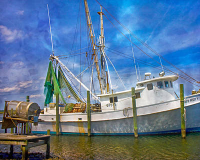 Net Photograph - The Harbor II by Betsy Knapp