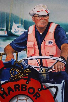 Joy Dinardo Bradley Dinardo Designs Painting - The Harbor Master by Joy Bradley