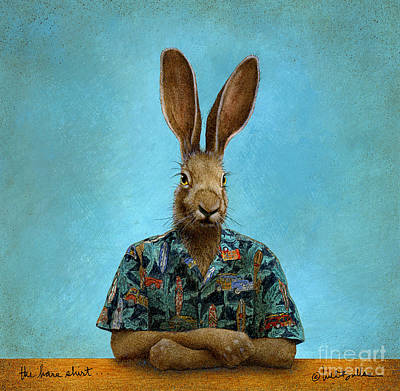 The Hare Shirt... Original by Will Bullas