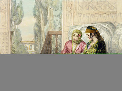 The Harem, Plate 1 From Illustrations Print by John Frederick Lewis