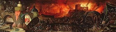 Monster Photograph - The Harrowing Of Hell Oil On Panel by Herri met de Bles