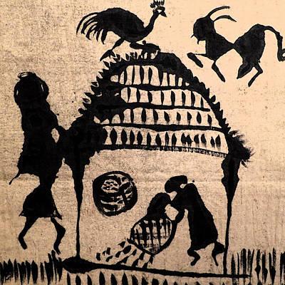 Warli Painting - The Harvest by Patricia Januszkiewicz