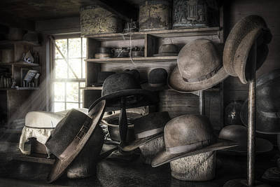 The Hatters Shop - 19th Century Hatter Print by Gary Heller
