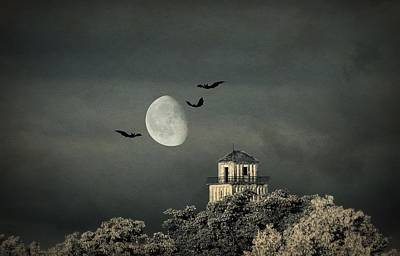 The Haunted House Print by Heike Hultsch