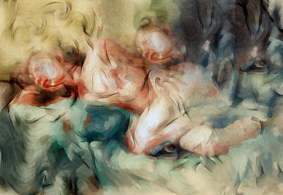 Depression Mixed Media - The Haunted Nude by Georgiana Romanovna