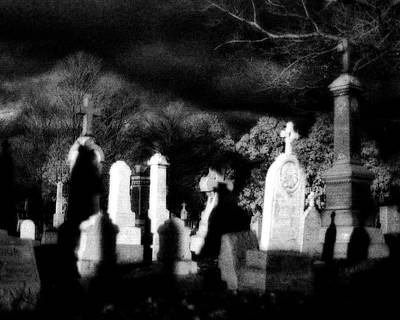 Eerie Digital Art - The Haunting Shadows by Gothicolors Donna