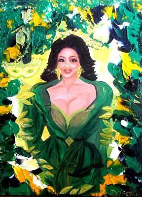 The Hawaiian Queen Print by Carmen Doreal