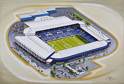Football Painting - The Hawthorns - West Bromwich Albion Fc by D J Rogers