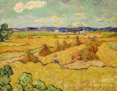 Meadow Painting - The Haystacks by Vincent van Gogh