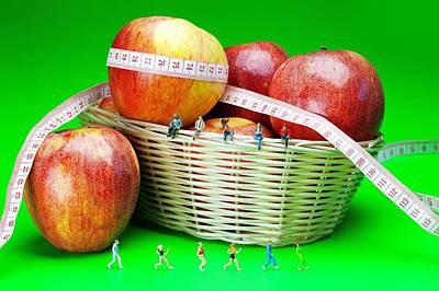 Jogging Digital Art - The Healthy Life II Little People On Food by Paul Ge