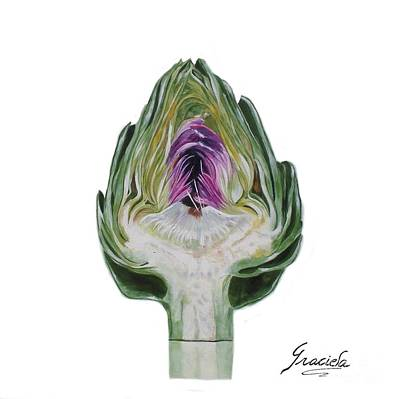 The Heart Of An Artichoke Original by Graciela Castro