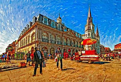 Hot Dog Digital Art - The Heart Of New Orleans by Steve Harrington