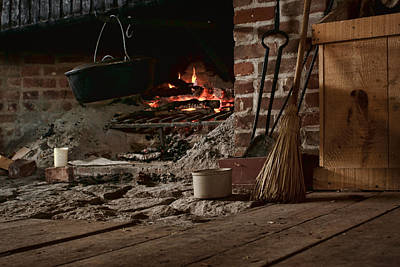 Crocks Photograph - The Hearth - Fireplace by Nikolyn McDonald