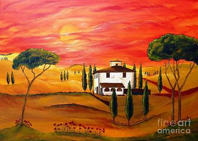 The Heat Of Tuscany Original by Christine Huwer