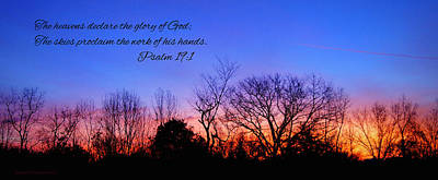 Bible Verse Photograph - The Heavens Declare by Cricket Hackmann