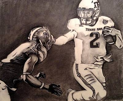 Texas A Drawing - The Heismanziel Pose by Mark Hutton