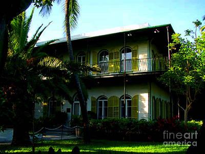 The Hemingway House In Key West Print by Susanne Van Hulst