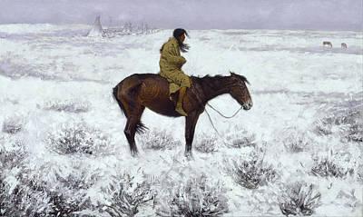 The Herd Boy Print by Fredrick Remington