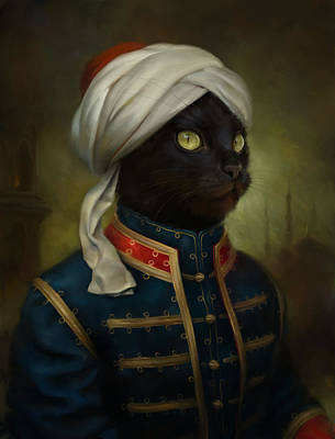 The Hermitage Court Moor Cat Print by Eldar Zakirov