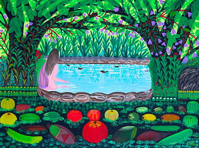Dry Lake Painting - The Hidden Water by Lorna Maza