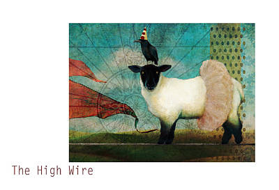 Sheep Mixed Media - The High Wire by Katherine DuBose Fuerst
