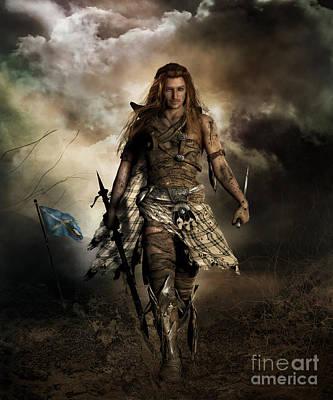 Loch Digital Art - The Highlander by Shanina Conway