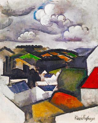 The Hills Beyond Meulan Print by Roger de La Fresnaye