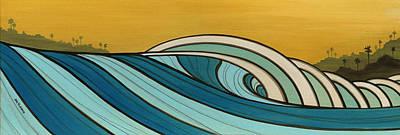 Laguna Beach Mixed Media - The Hills by Joe Vickers