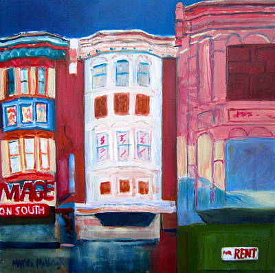 The Hippest Street In Town Print by Marita McVeigh