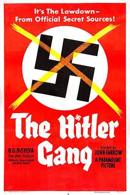 1944 Movies Photograph - The Hitler Gang, Us Poster, 1944 by Everett