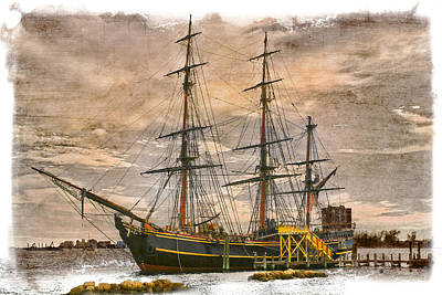 Jupiter Inlet Photograph - The Hms Bounty by Debra and Dave Vanderlaan