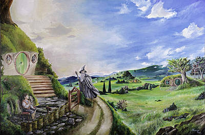 Middle Ground Painting - The Hobbit - Unexpected Visit by Alessandro Serra