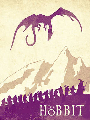 The Hobbit - Lord Of The Rings Poster. Watercolor Poster. Handmade Poster. Print by Lyubomir Kanelov