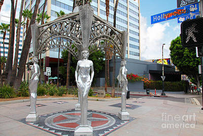 The Hollywood Boulevard Gazebo La Brea Gateway To Hollywood 5d28926 Print by Wingsdomain Art and Photography